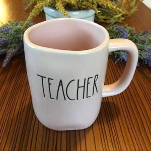 Rae Dunn Dusty Pink Teacher Coffee Mug